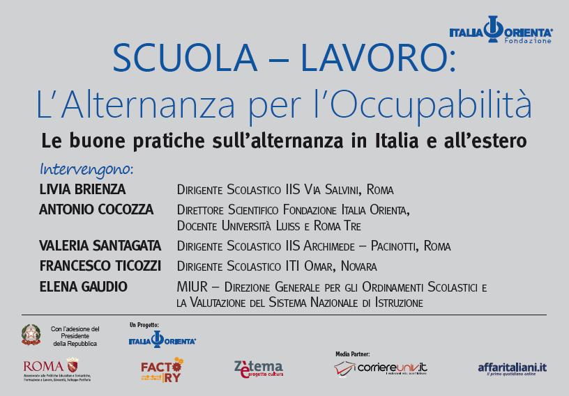 LE BUONE PRATICHE SULL'ALTERNANZA IN ITALIA E ALL'ESTERO